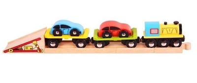 Trein met auto-oplader - Bigjigs