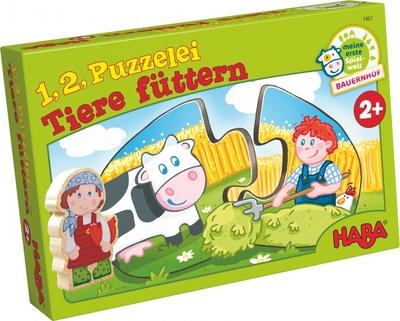HABA - 1,2, puzzel mee – Dieren voederen