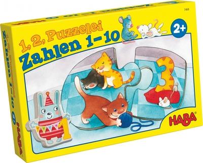 HABA - 1,2, puzzel mee – Getallen 1-10