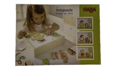 Haba – Houten puzzel – Kinderen van de wereld
