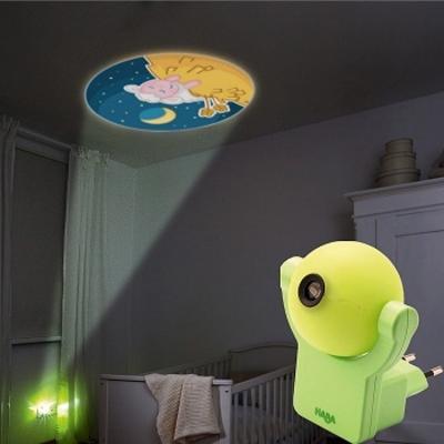Nachtlampje met geprojecteerd beeld