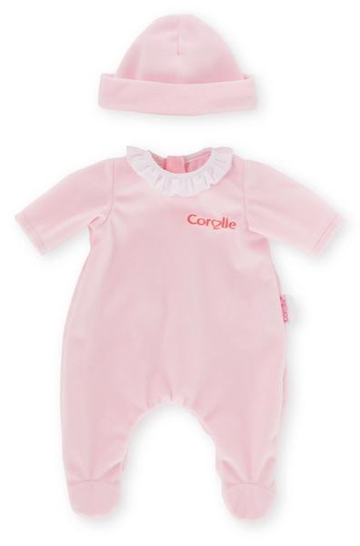 Corolle - Roze pyjama met muts - 30 cm