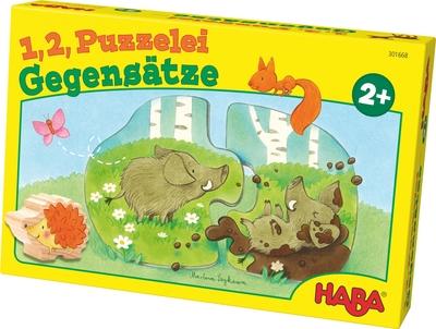 HABA - 1,2, puzzel mee – Tegenstellingen