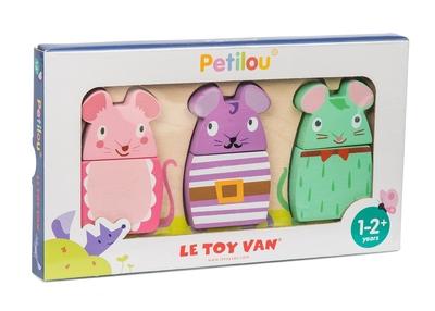 Houten muizen puzzel - Petilou