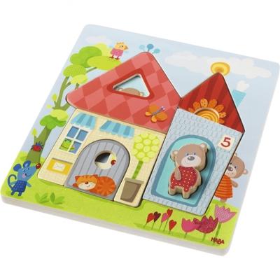 Haba - Houten puzzel - Berenhuis