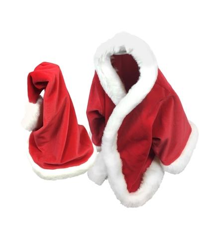 Kleding handpoppen - Kerstmantel en muts