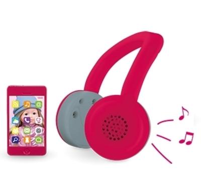 ma Corolle - Koptelefoon + telefoon