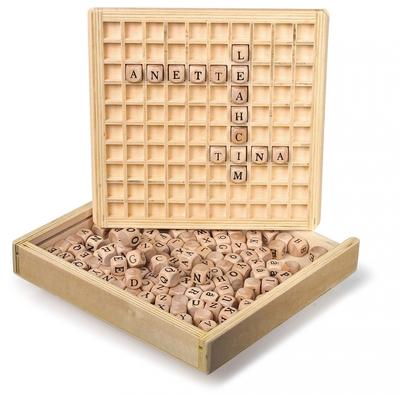 Houten bordspel - Woorden leggen - Legler