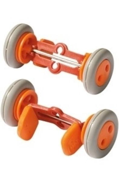 Oranje wielklemmen - set van 2 stuks - Haba