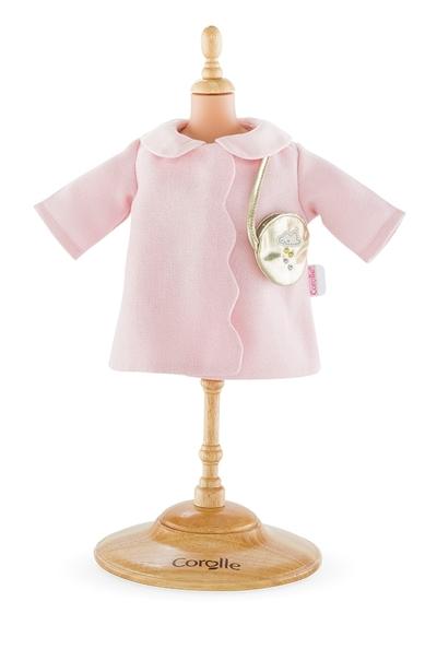 Corolle - Roze jas met gouden schoudertas - 30cm