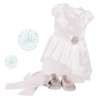 Dress kleding zilverwit - 45-50cm - Götz