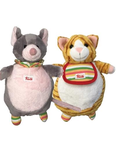 Handpop - Kat en muis - 2 in 1 - Trudi