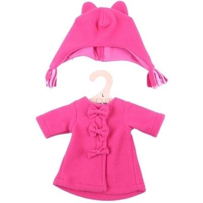 Bigjigs - 35cm - Roze Fleece winterjas met muts