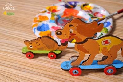 UGears Kleurenmodel - Poes en hondje
