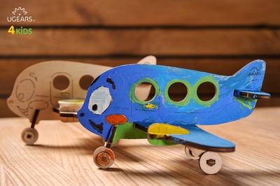 UGears Kleurenmodel - Vliegtuig