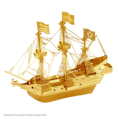Gouden Golden hind - Metal Earth