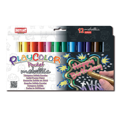 Playcolor - Metallic 12 stiften