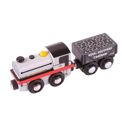 Bigjigs - Locomotief met wagon