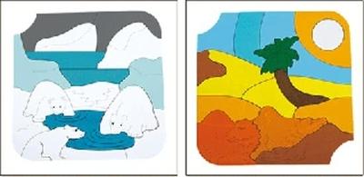 Houten lagen puzzel - ijsbeer
