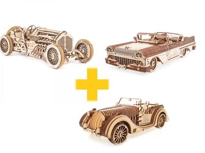 Voordeelpakket UGears - Nostalgische voertuigen