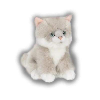 Kat zit - grijs 15cm - ACP