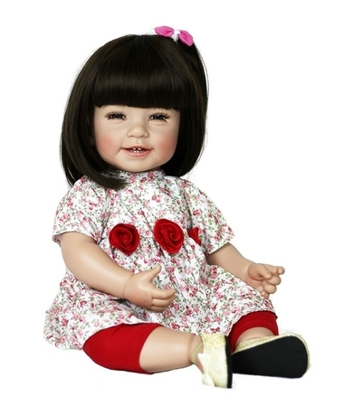 Adora Toddler Time Baby Mila met rozen jurkje - 51cm