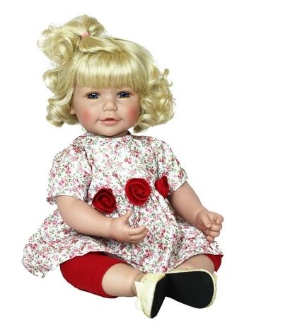 Adora Toddler Time Baby Emma met rozen jurkje - 51cm