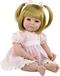 Adora Toddler Time Baby Amy met rozen jurkje - 51cm
