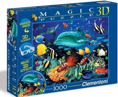 Legpuzzel - 1000 - 3D puzzel onderwater met bril