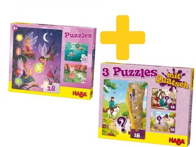 Voordeelpakket Haba - Sprookjes puzzels 2x