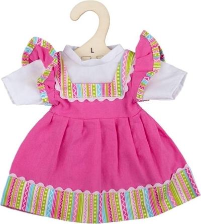 Bigjigs - 35cm - Roze jurk met shirt