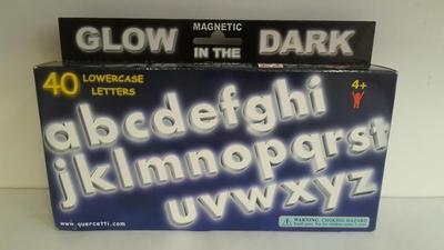 Magnetisch alfabeth glow in the dark