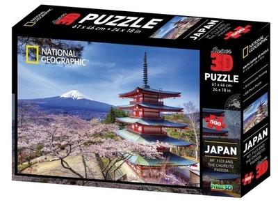 Legpuzzel - 500 3D Mount Fuji in Japan