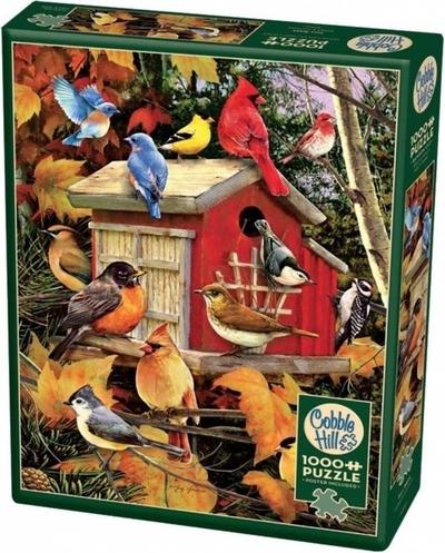 Legpuzzel - Vogelhuisje in de herfst - 1000