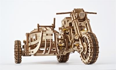UGears - Motor met zijspan