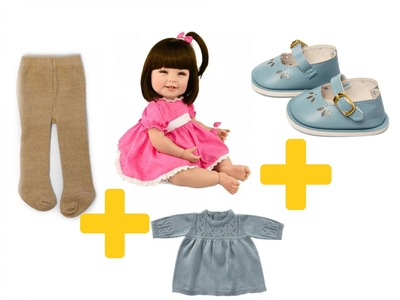 Adora Toddler Time Baby Mila met gebreid jurkje - 51cm