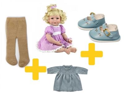 Adora Toddler Time Baby Emma met gebreid jurkje - 51cm