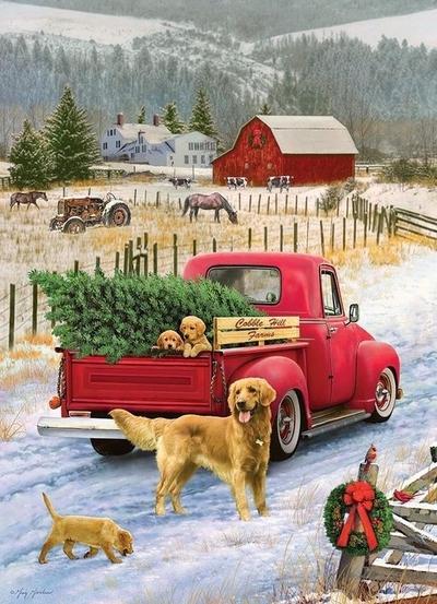 Legpuzzel - 1000 - Christmas on the farm