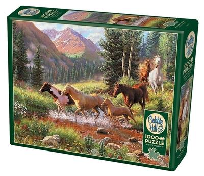 Legpuzzel - 1000 - Wilde paarden