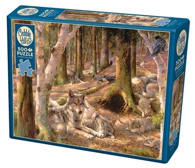 Legpuzzel - Wolven in het bos - 500 stukjes
