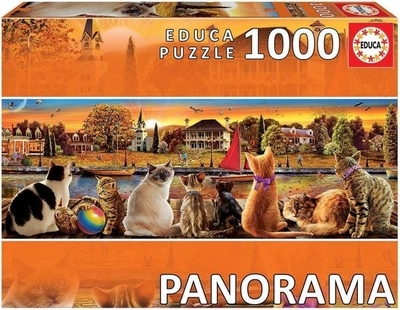 Legpuzzel - 1000 - Panorama katten