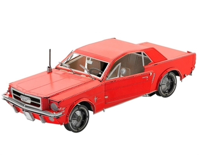 1965 Ford Mustang Rood - Metal Earth