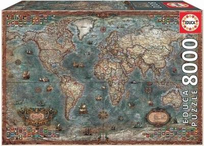 Legpuzzel - 8000 - Historische wereldkaart