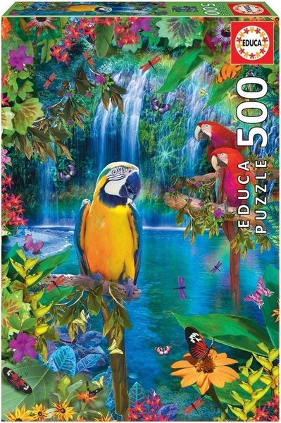 Legpuzzel - 500 - Papegaai in de tropen