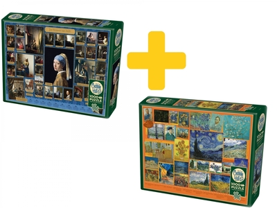 Voordeelpakket kunstzinnige puzzels Van Gogh & Vermeer